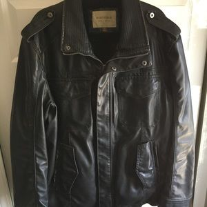 Faux Leather Sonoma Coat Fur-lined XL